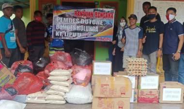 Masyarakat Dutohe Membantu Korban Banjir Desa Mamungaa