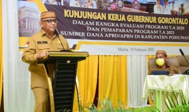 Siskamling Cegah Terorisme, Gubernur Gorontalo : Rakyat Pohuwato Terus Waspada