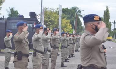 Polda Gorontalo Kirim 101 Personil Brimob Ke Papua, Bantu Pengamanan PON XX