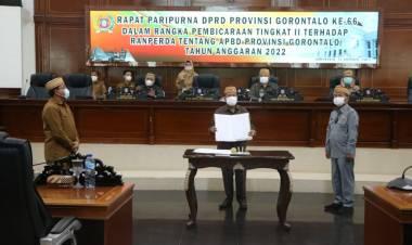 DPRD dan Pemprov Setujui Ranperda APBD Tahun 2022