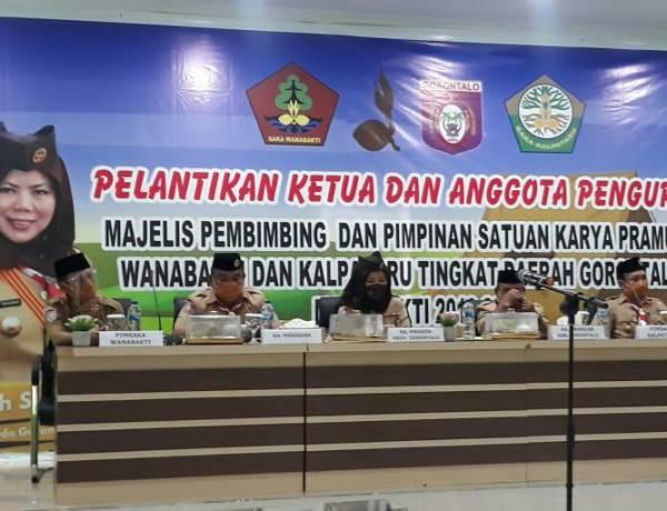 Pengurus Majelis Pembimbing, Pinsaka Wanabakti dan Kalpataru Gorontalo Resmi Dilantik Idah Syahidah