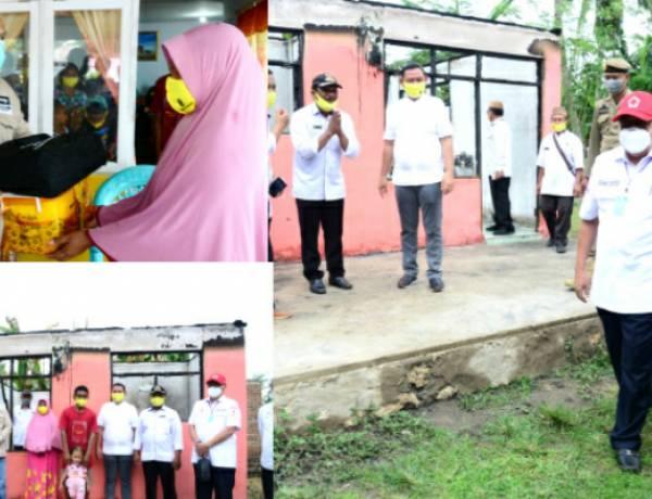 Korban Kebakaran di Dungaliyo Dibangunkan Rumah, Ramli Butulipu : Terimah Kasih Pak Gubernur