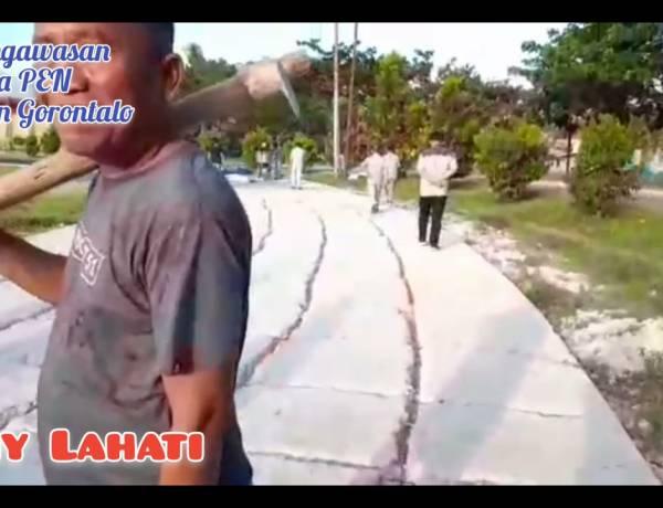 Asisten II Kabgor Tinjau Pekerjaan Jogging Track Bersama Tim Kejaksaan dan Kepolisian